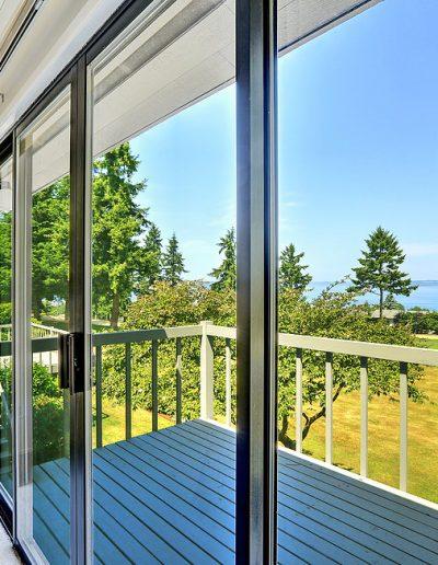 Walkout Deck With Glass Slide Door